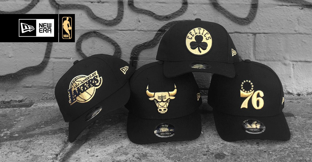 New Era NBA 9Fifty Black Gold Snapback caps