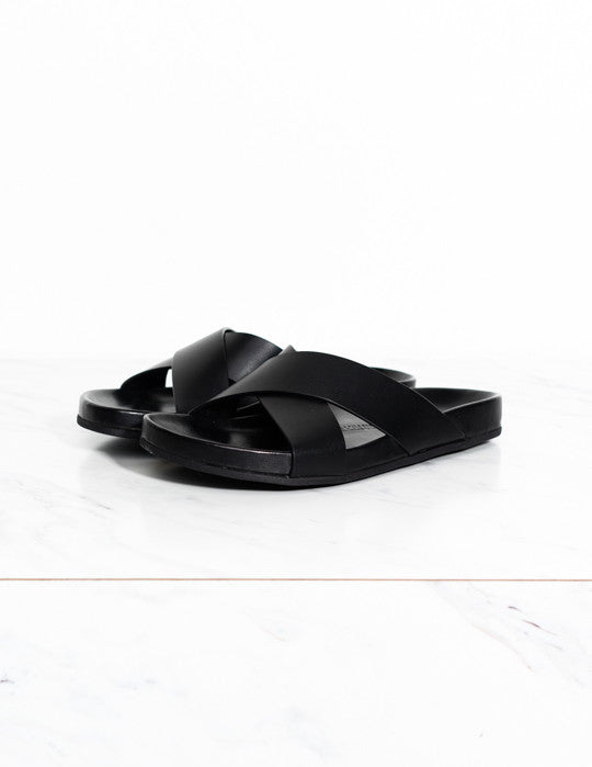 Leather Cross Sandal