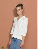 Flared Collar Top