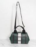 Madeline Check Leather Handbag