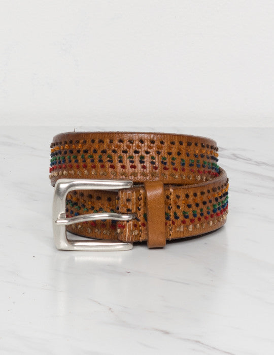 Threaded Leather Belt