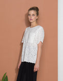 Rose Lace Surplice Tee