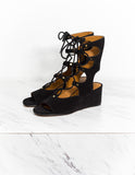 Suede Lace-Up Sandal