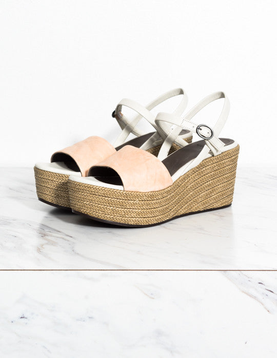 Rose Espadrille Wedge