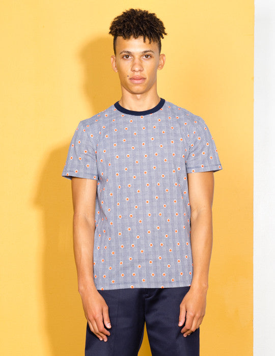 All Over Check Dots Tee