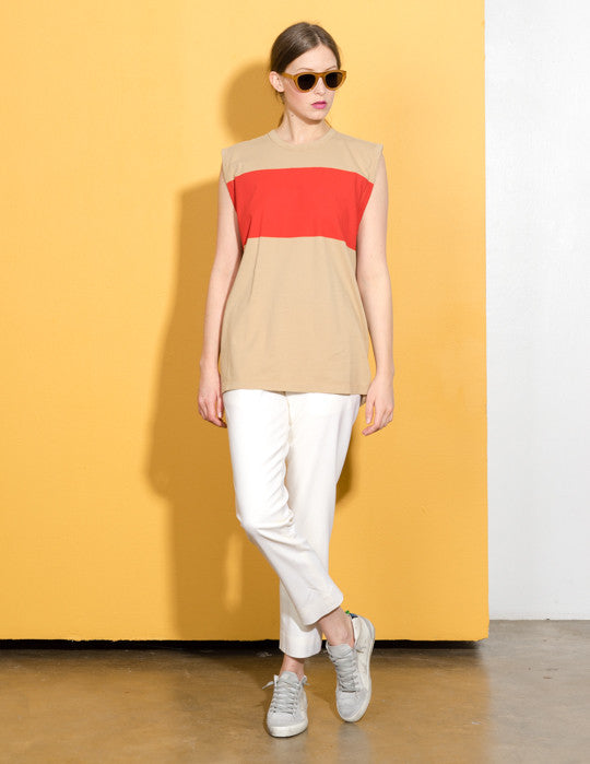 Colorblock Jersey Top