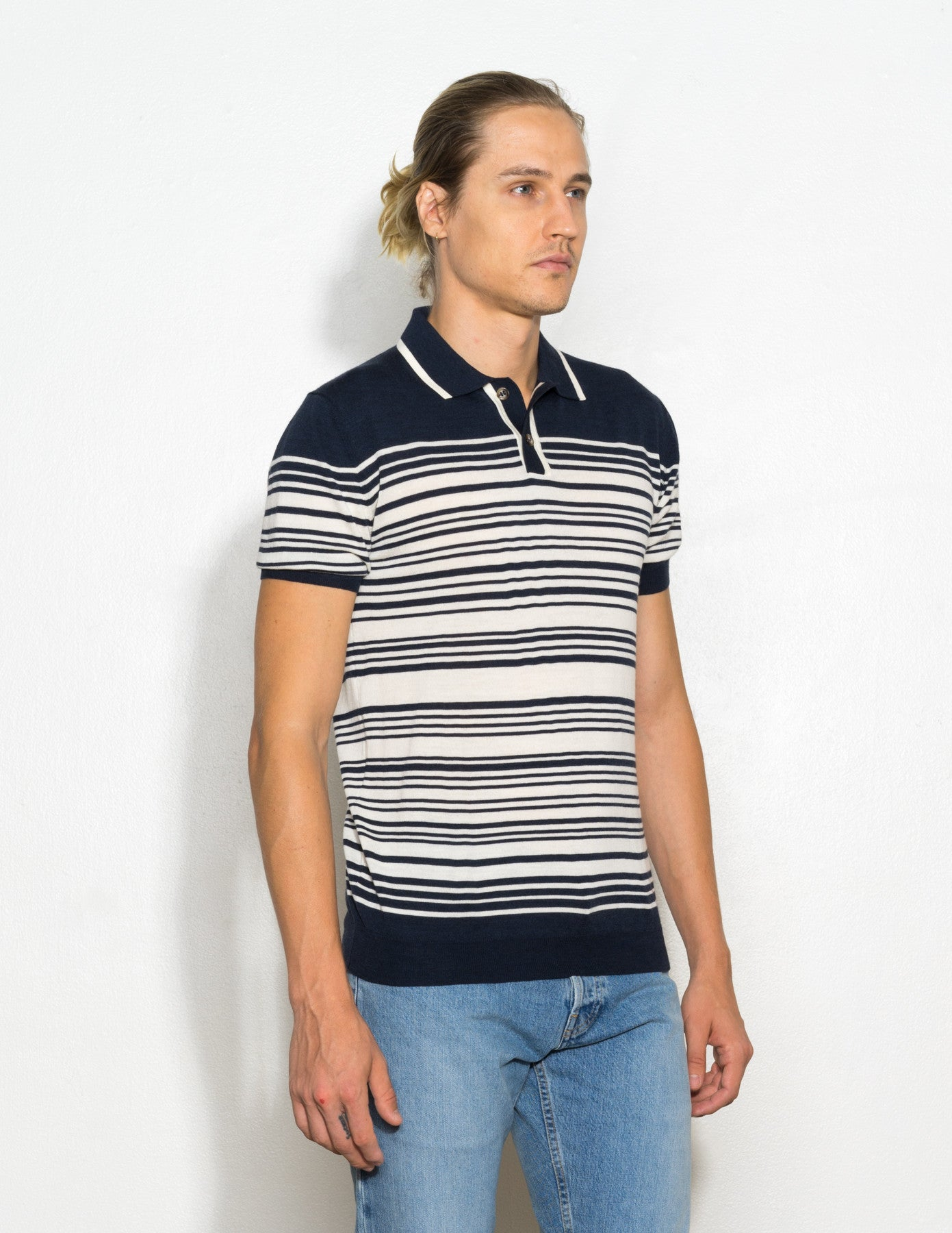 Brooks Striped Polo