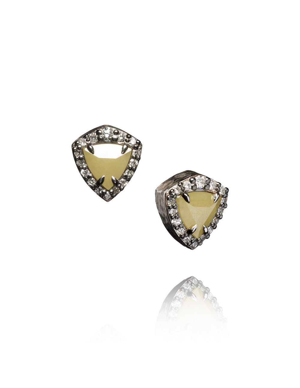 Diamond Trillion Stud Earrings