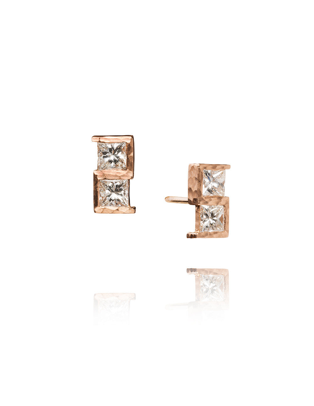 Diamond Greek Key Earrings
