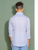 Indigo Flower Button Down
