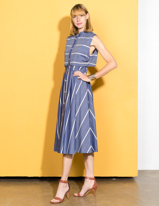 Stripe Chambray Dress
