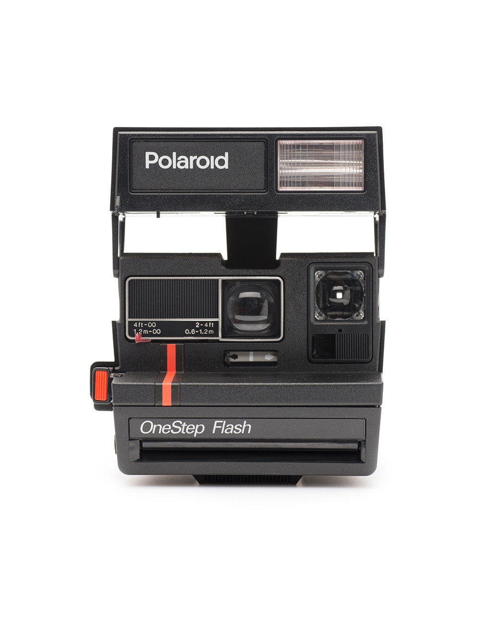 600 Red Stripe Polaroid Camera