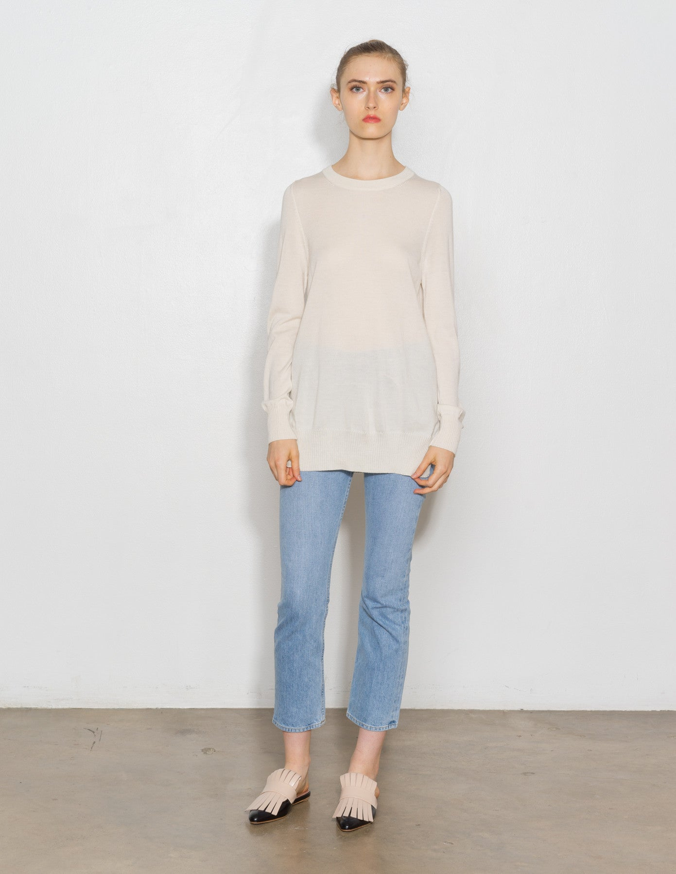 Pullover Elongated Sweater