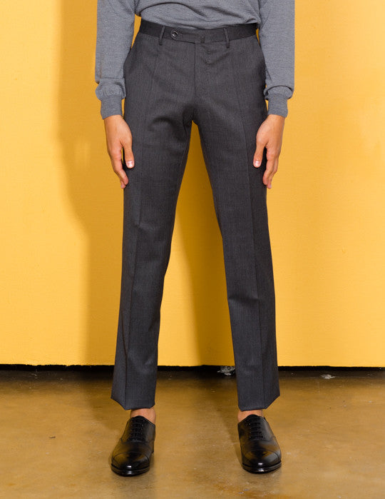 Flat Front Slim Trouser