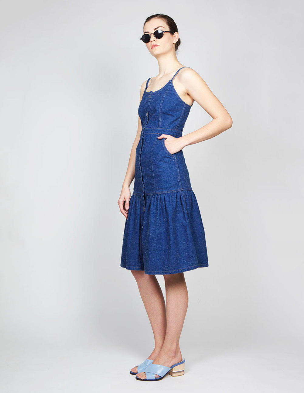 Spaghetti Strap Denim Dress