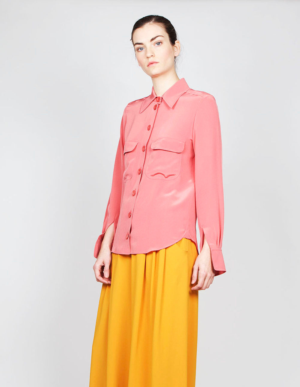Crepe de Chine Button Down