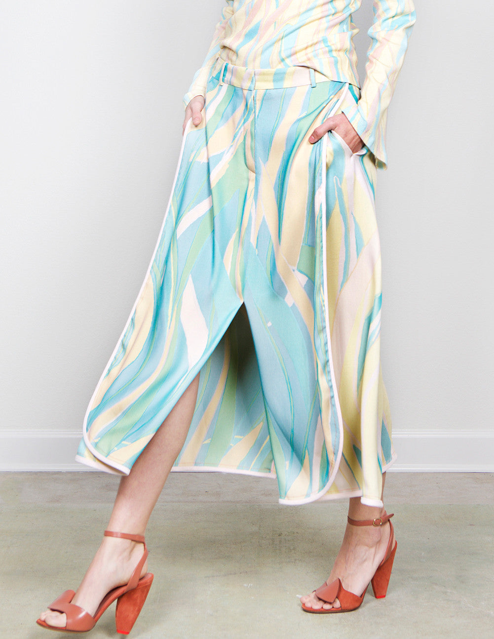 Acid Wave Crepe Skirt