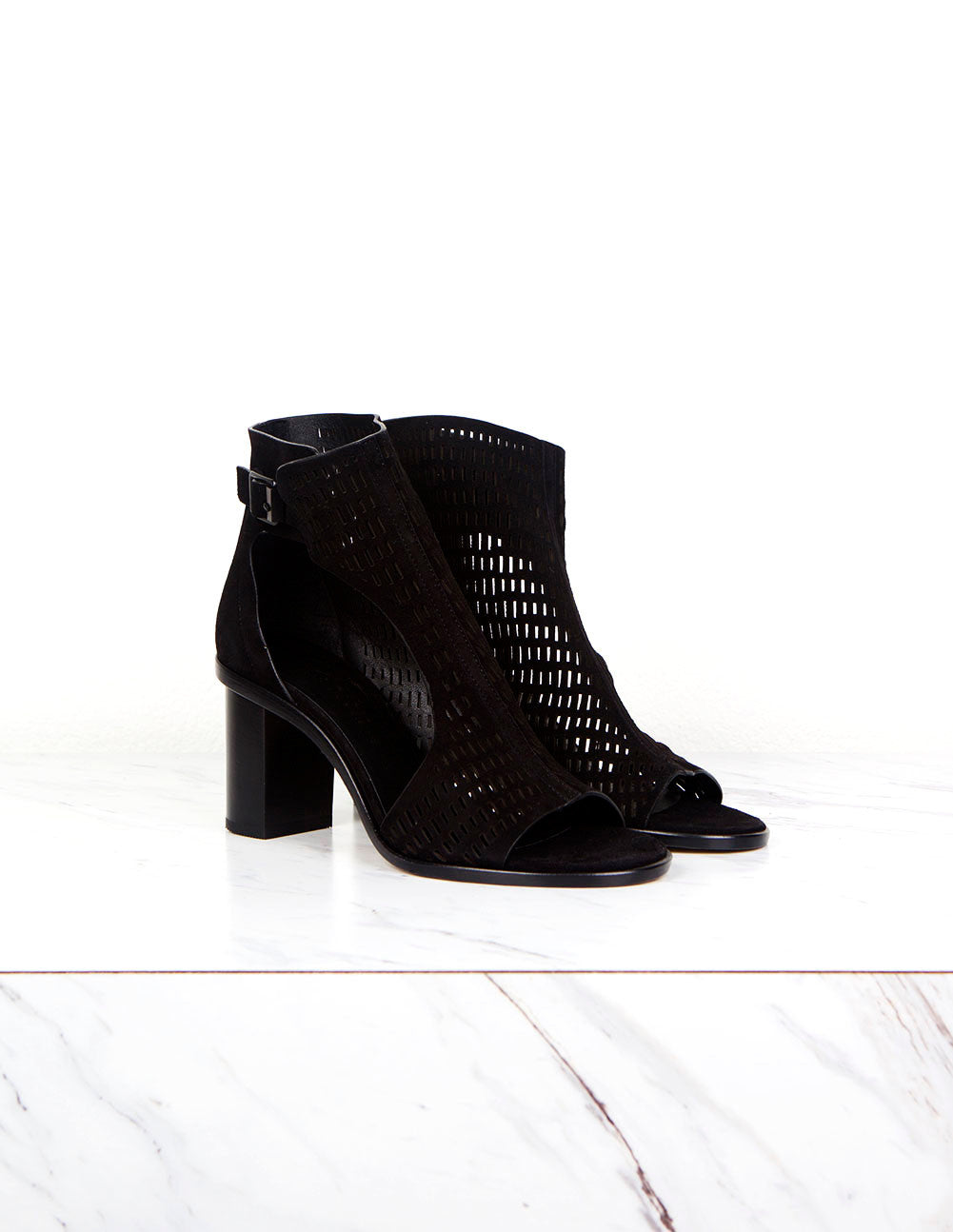 Fern Perforated Suede Ankle Boot