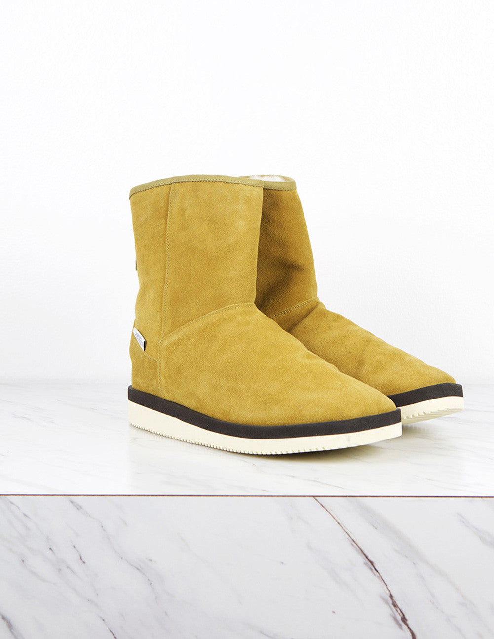Shearling Lined Suede Boot