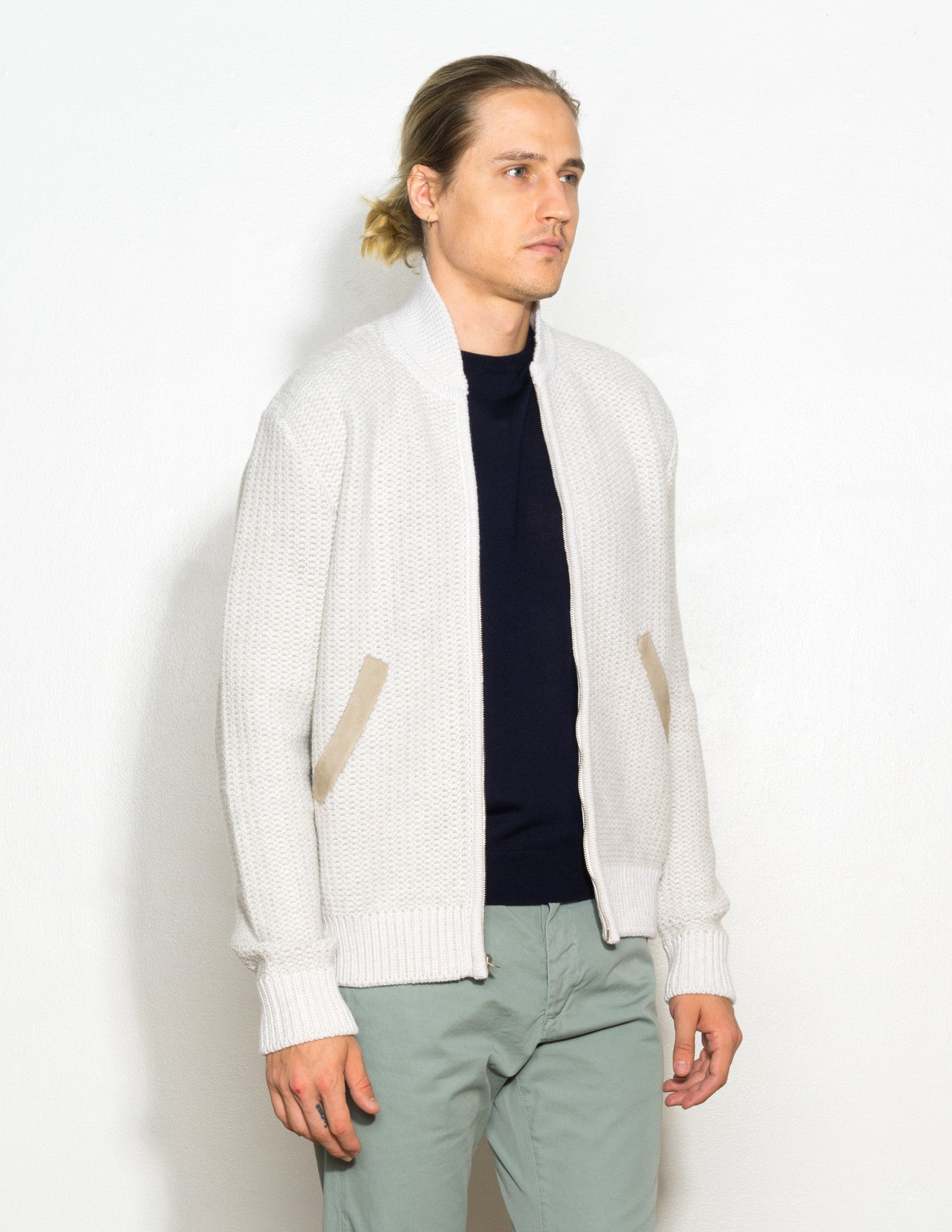 Grid Stitch Bomber