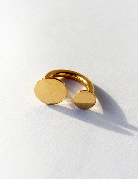 Thick Circle Duo Ring