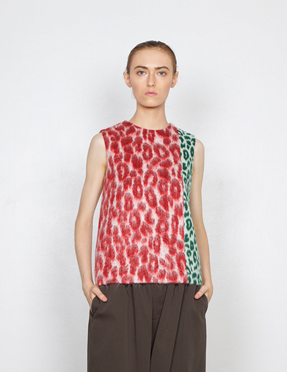 Augusti Leopard Mix Top