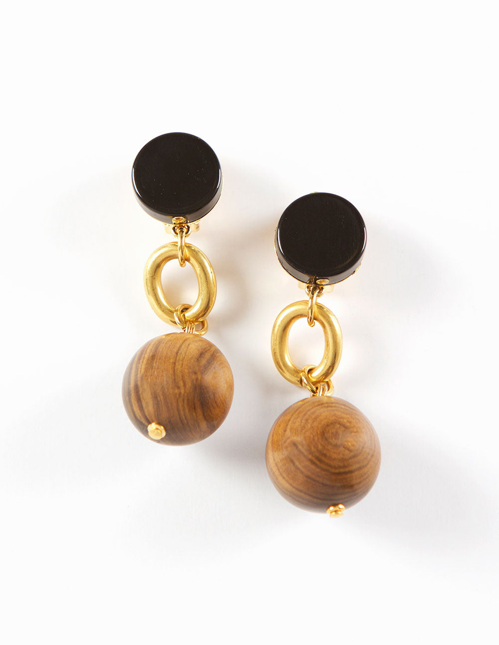 Clip Wood earrings