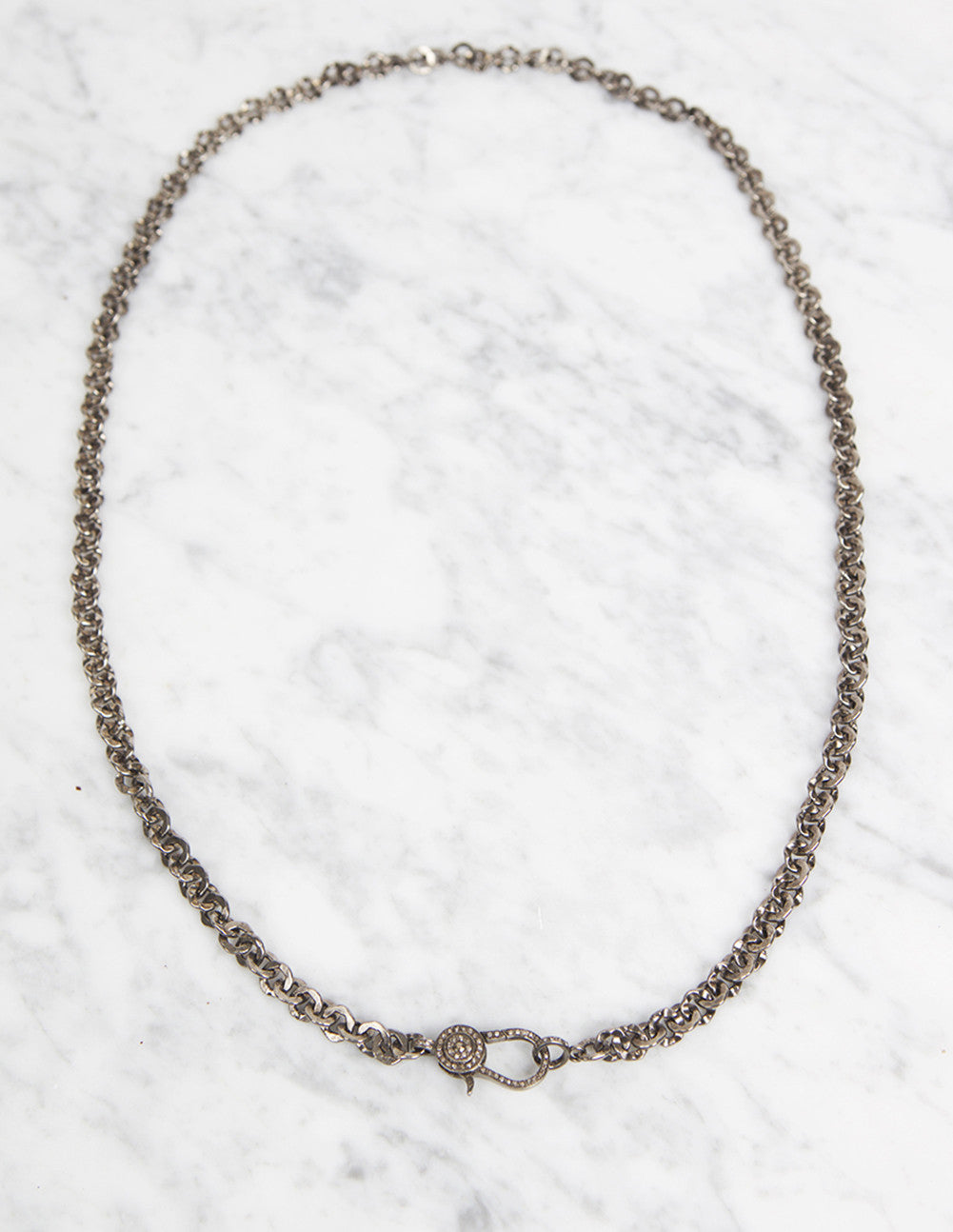 Pavé Clasp Necklace
