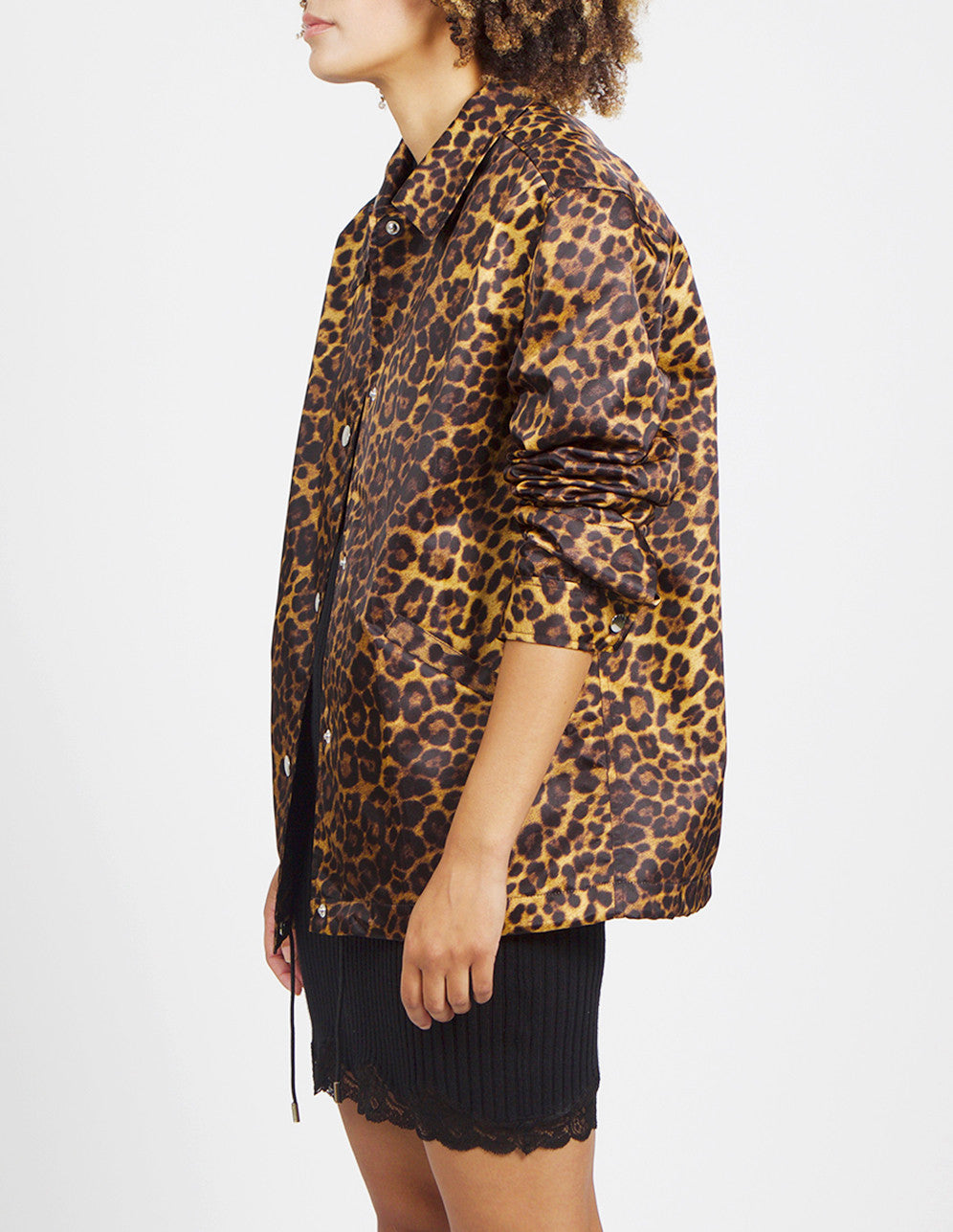 Leopard Print Coaches Jacket