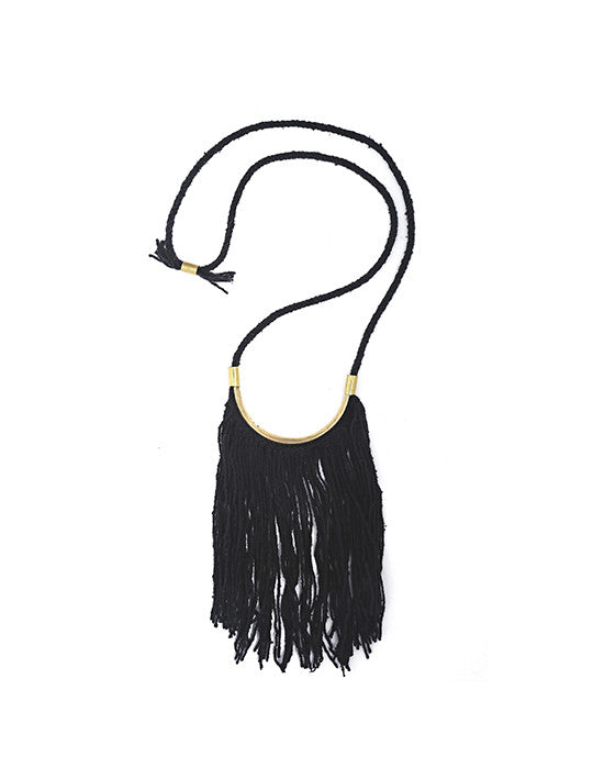 Lunate Fringe Necklace