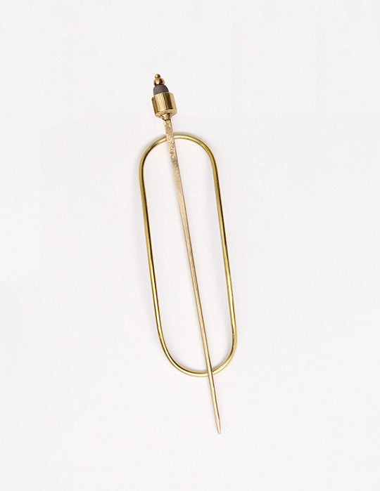 Oval Stick Hair Pin