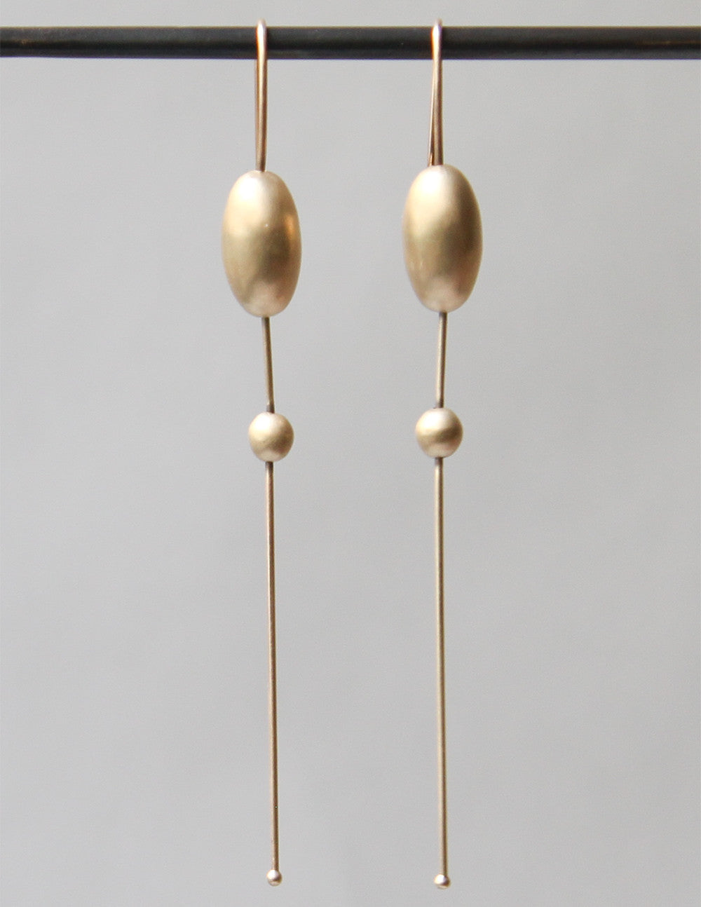 Small Simple Egg Chain Earrings