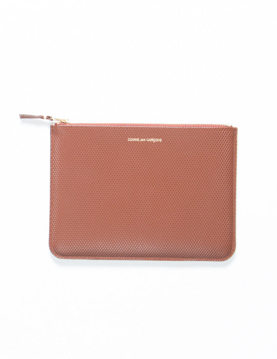 Luxury Embossed Leather Pouch