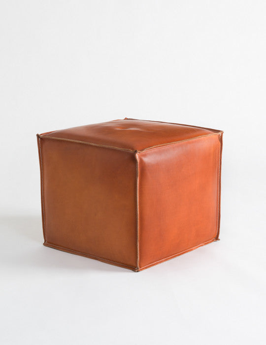 Saddle Leather Pouf