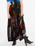 Patch Velvet Skirt