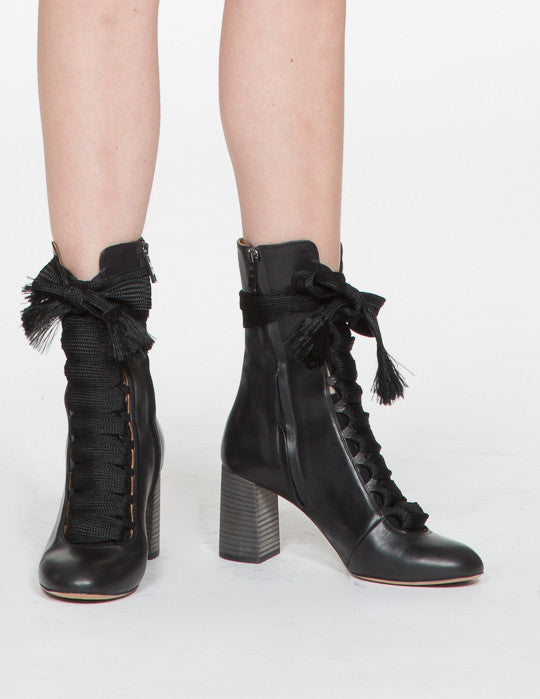Palmer Lace Up Heel Boot
