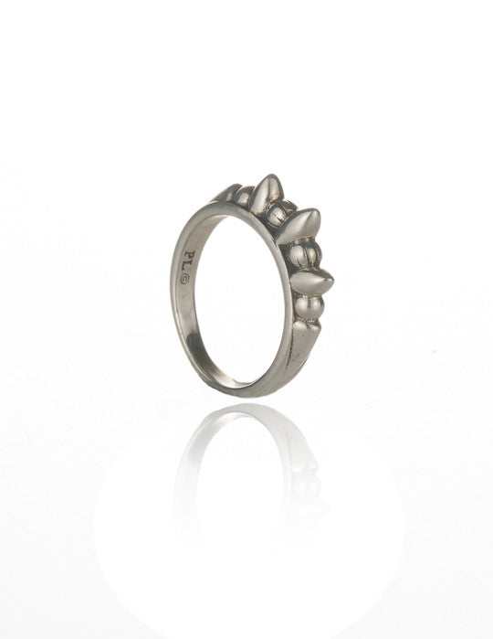 Thin Tribal Spike Ring