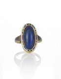 Deco Lapis + Enamel Ring