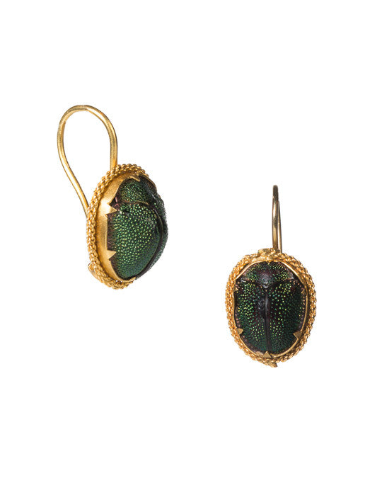 Real Scarab Earring