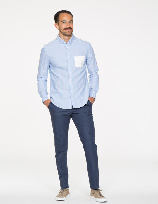 Contrast Pocket Button Down