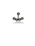 Ear Jackets Black Pearls