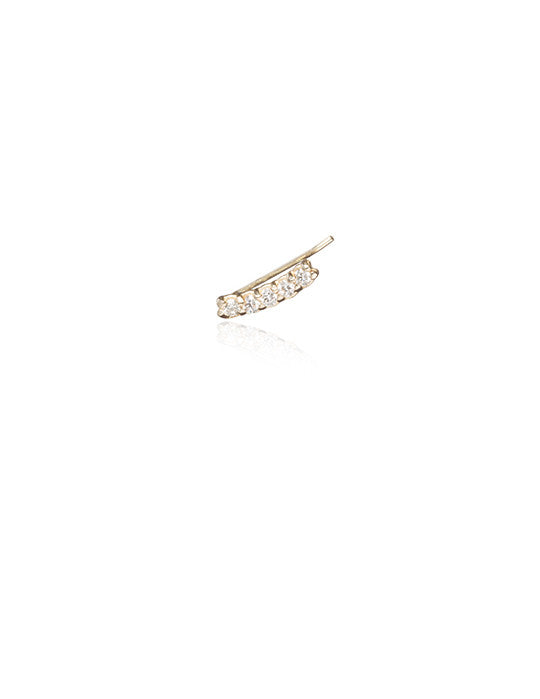 Ear Pins White Diamond