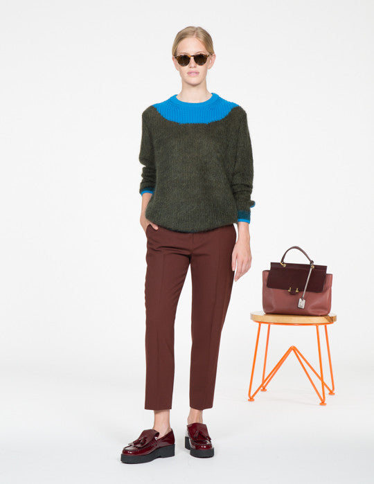 Colorblock Mohair Sweater