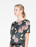 Whimsical Floral Boxy Top