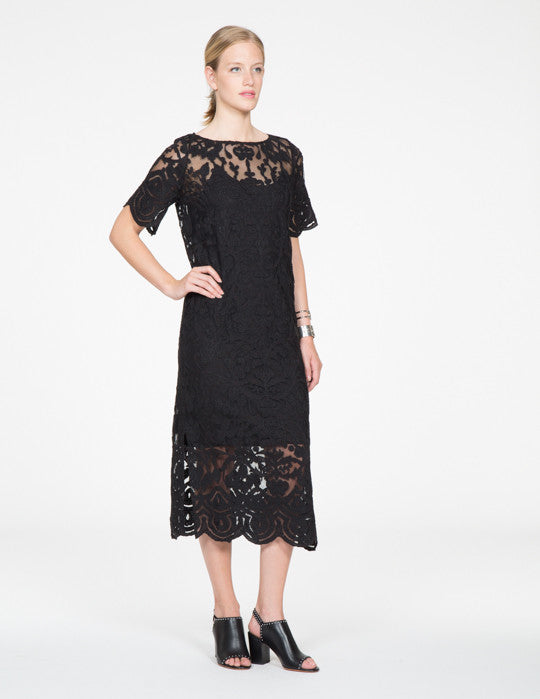 Lace Appliqué Embroidered Dress