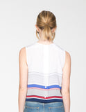 Striped Crop Shell