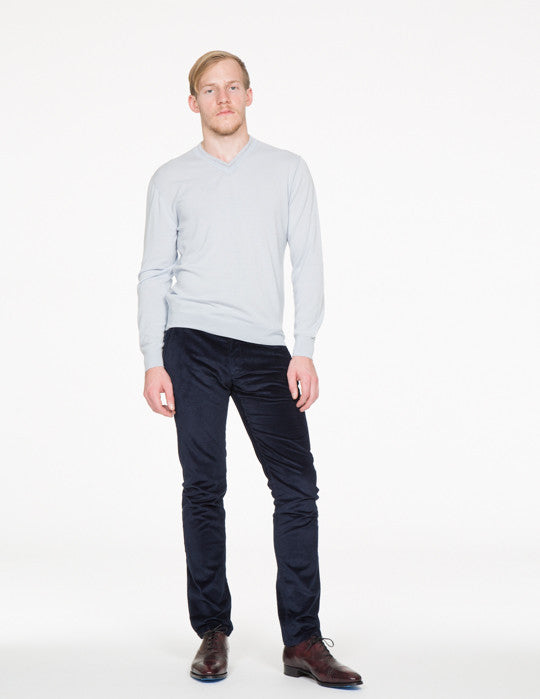 Hank Trimmed V-Neck Sweater