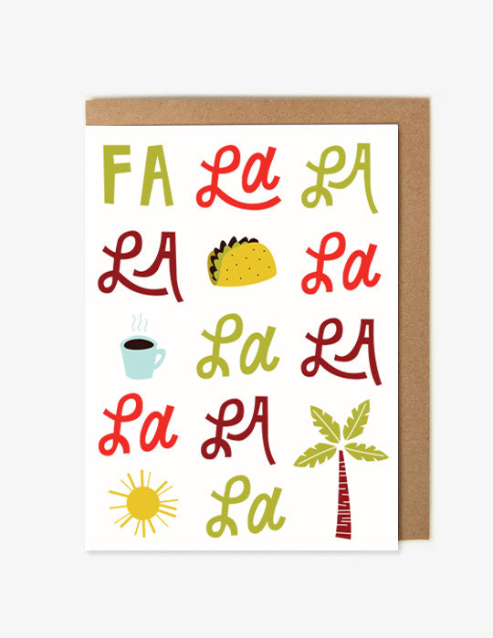 Falalala Holiday Card