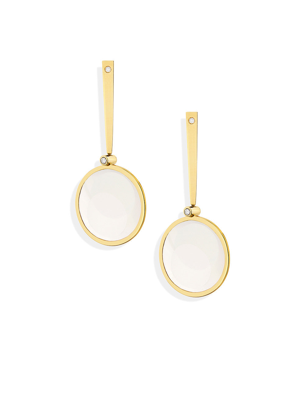 Deco Long Round Earrings