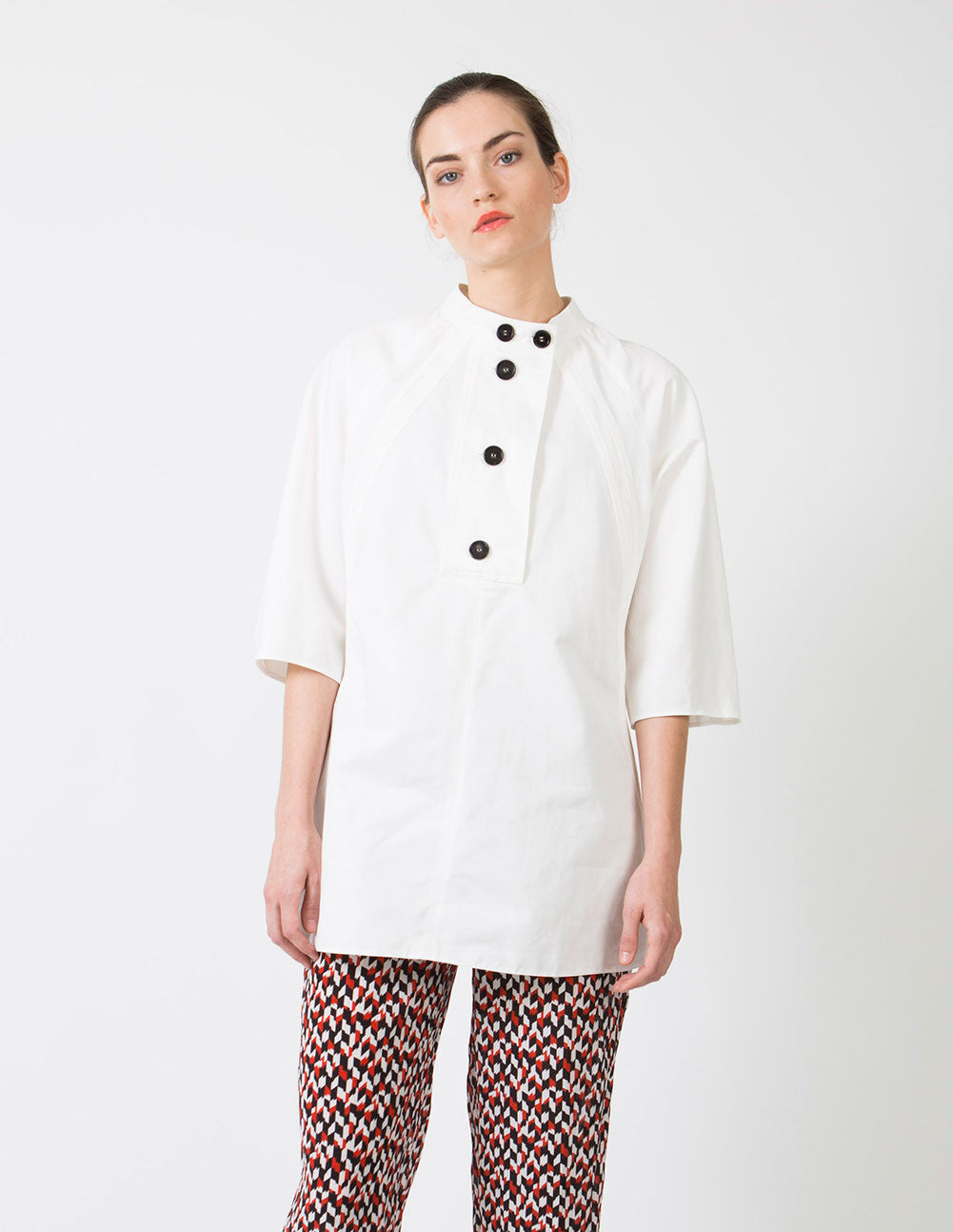 Stone White Blouse